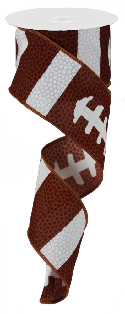 "2.5""x10yd Football Laces - Brown/White"