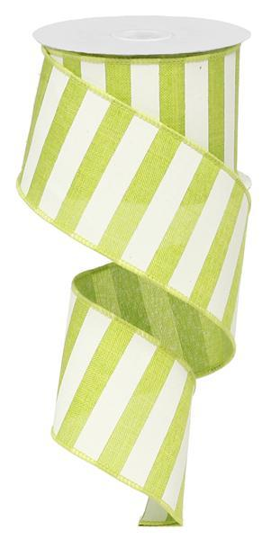 "2.5""x10yd Horizontal Stripe - Lime/White"