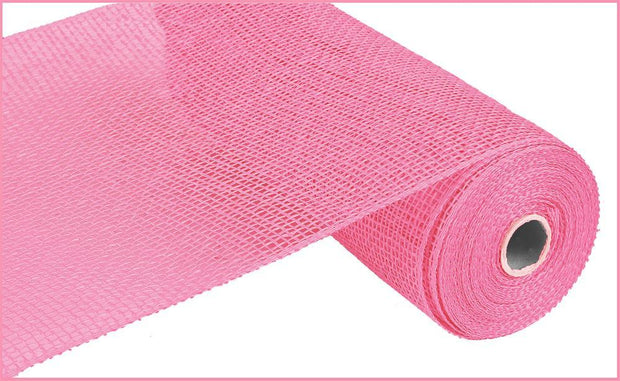 10in x 10yd - Pink Poly Burlap Mesh