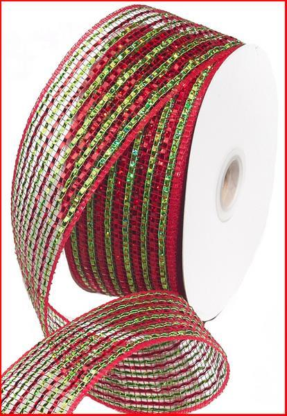 2.5in. x 25yd Red Lime Laser  Foil Mesh