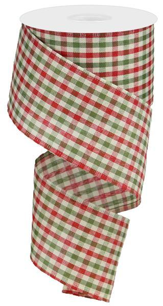 2.5x10 Primitive Gingham Check - Red/Moss/Ivory