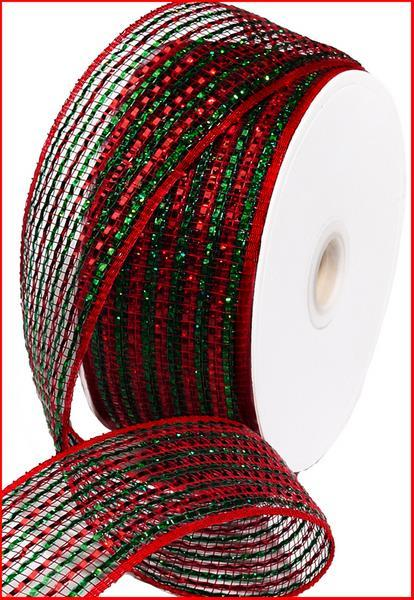 2.5in x 25yd - Red Emerald Wide Foil Ribbon
