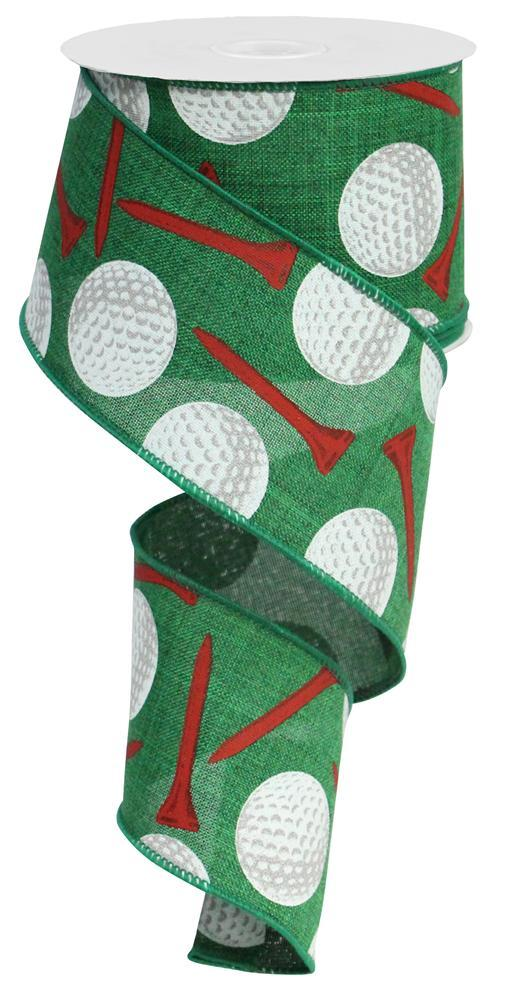 "2.5""x10yd Golf Balls - Emerald/White/Red"