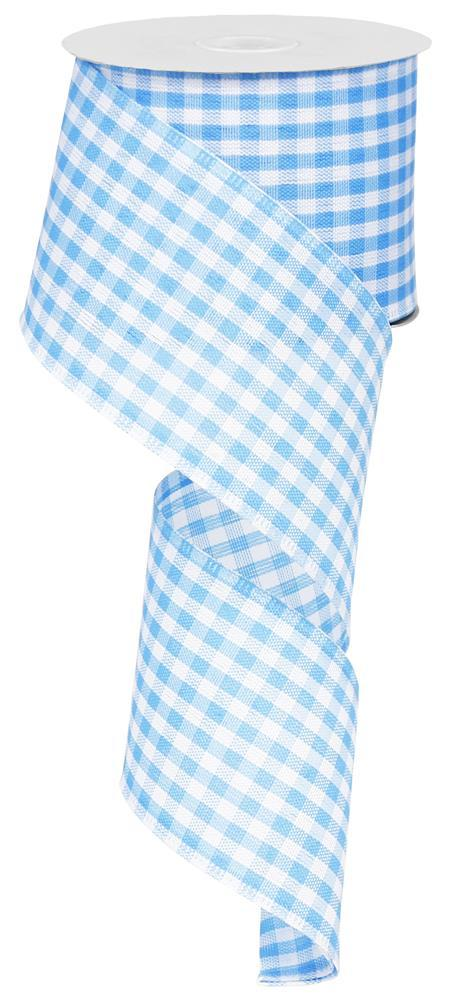 2.5x50yd Gingham Check - Blue/White