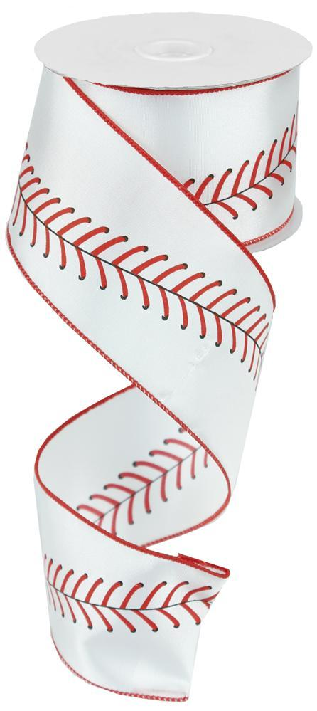 "2.5""x10yd Baseball Stitching - Red/White"