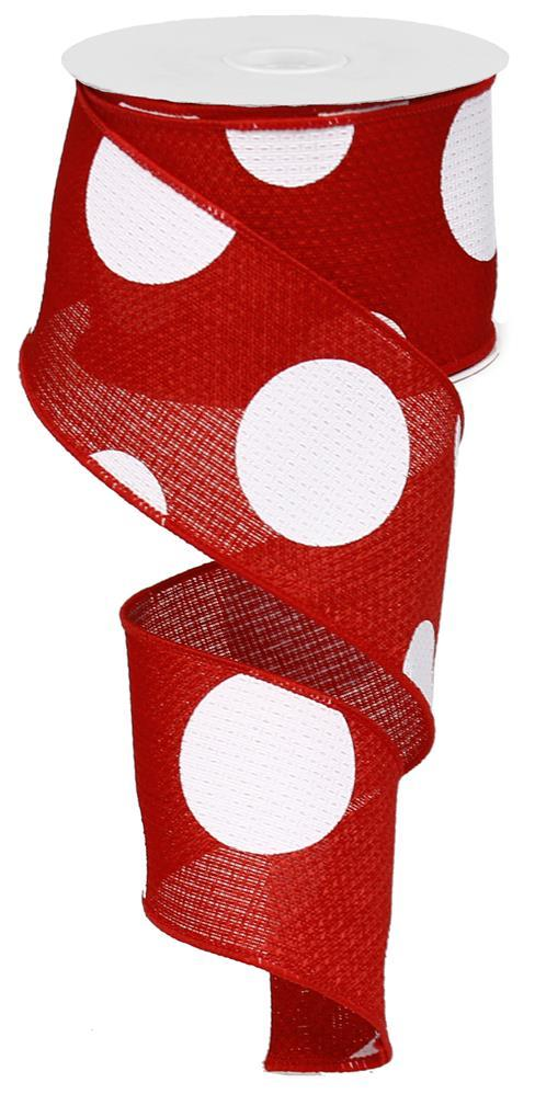 2.5in x 10yd - Red Giant Dots Ribbon