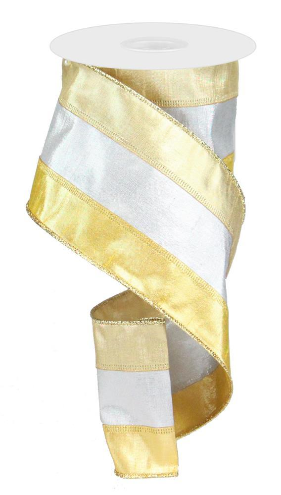 "4""x10yd 3 in 1 Metallic Dupioni - Champ/Silver/Gold"