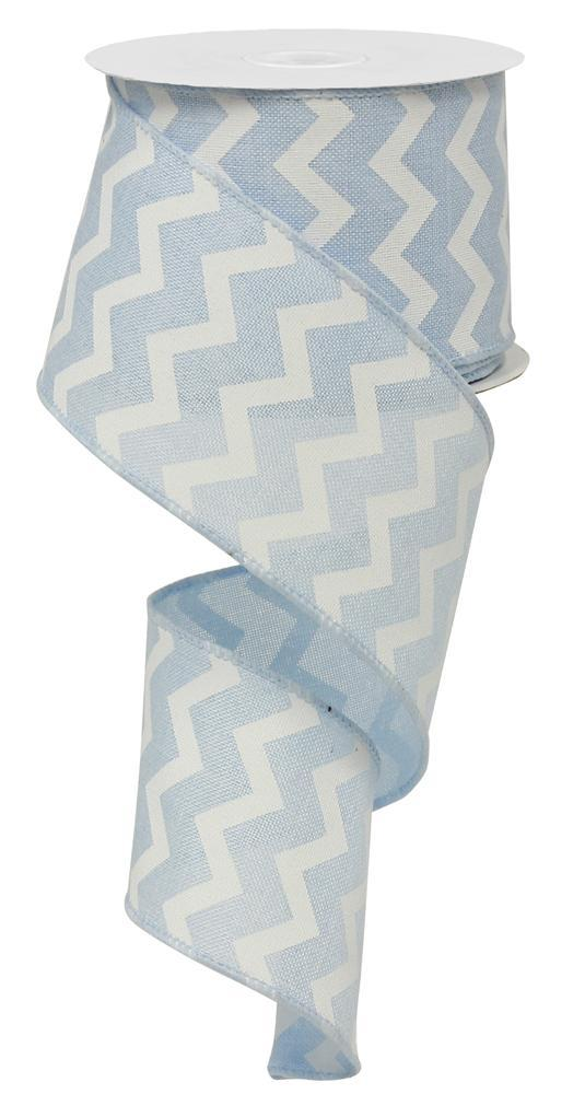 2.5in x 10yd - Small Chevron - Light Blue