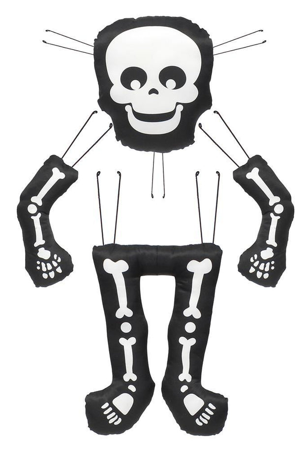 "4 Pc 29""H X 21.25""L Skeleton Decor Kit"