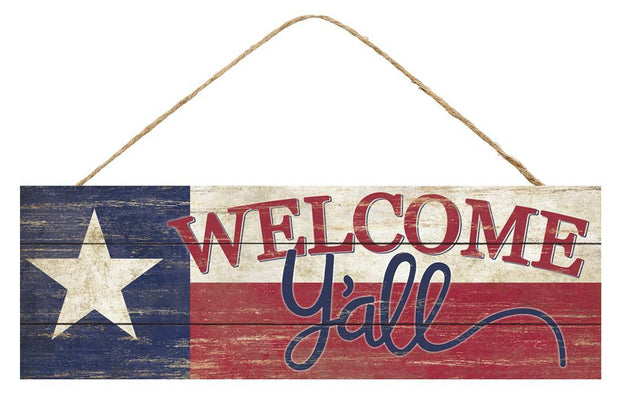 "12.5"" Multi-Welcome Y'all Texas Sign"