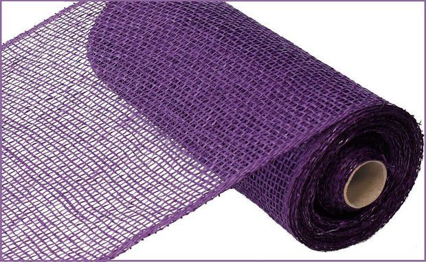 10in x 10yd - Purple Poly Burlap Mesh