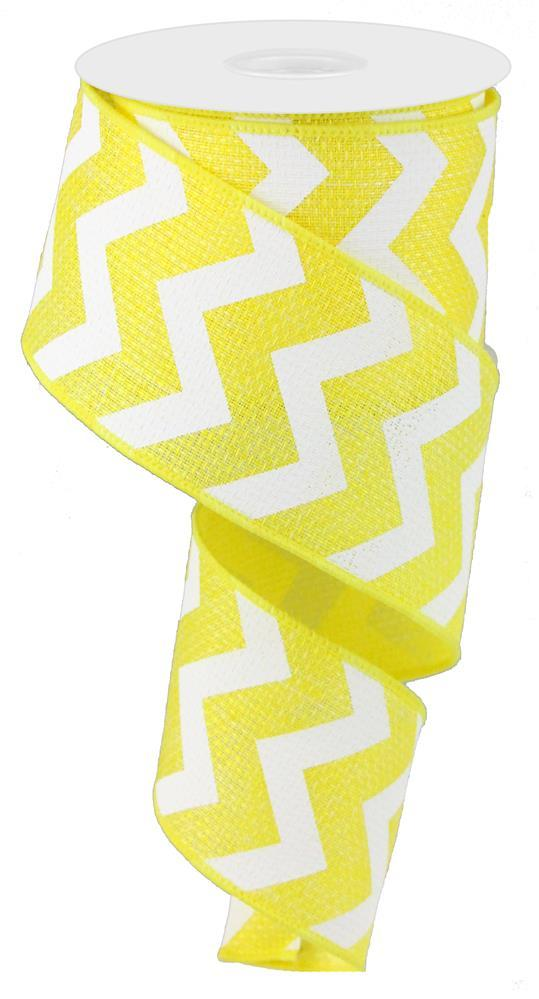 "2.5x""10yd Wide Chevron on Royal - Yellow/White"