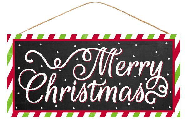 "12.5""x6""H Merry Christmas Sign"