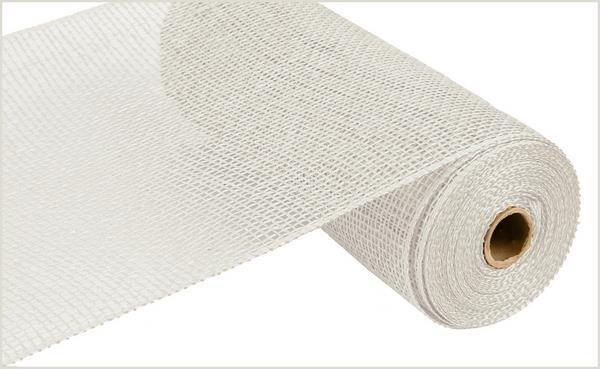 10in x 10yd - White Poly Burlap Mesh