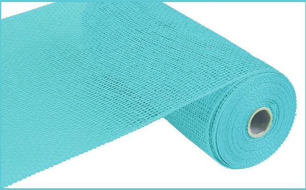10in x 10yd - Turquoise Poly Burlap Mesh