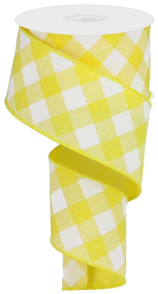 "2.5""x10yd Diagonal Check - Yellow/White"