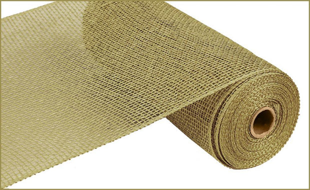 10in x 10yd - Moss Poly Burlap Mesh