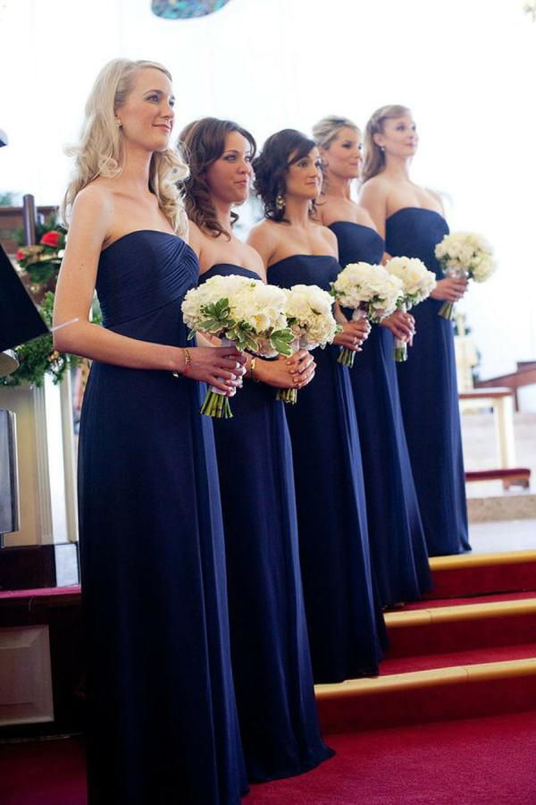 Simple Royal Blue Off Shoulder Floor Length Long Bridesmaid Dresses, MB163
