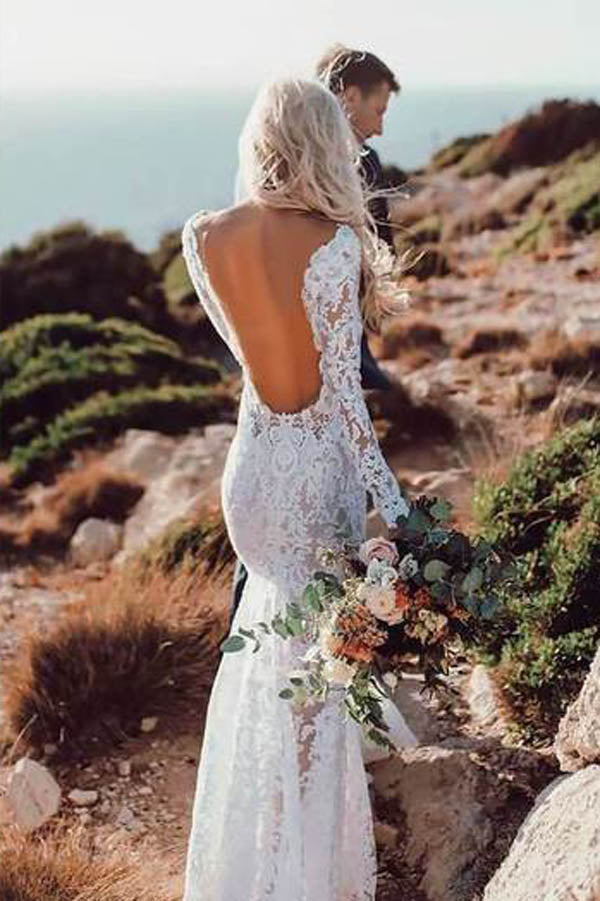 Rustic Mermaid Wedding Dresses