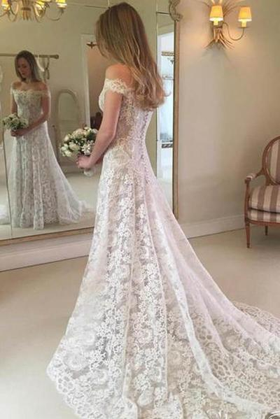 Rustic Boho Off The Shoulder Lace Wedding Dress Mw279 Rustic Boho Off The Shoulder Lace Wedding Dress Mw279