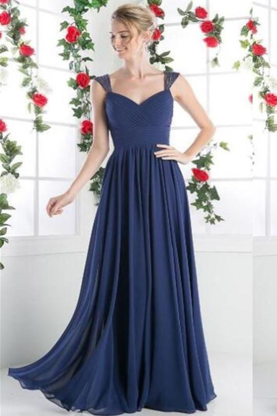 Chiffon Cheap A-line Long Prom Dresses, Bridesmaid Dresses, Evening Dresses, MB128