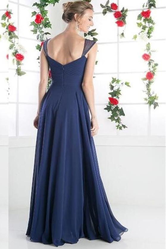 Chiffon Cheap A-line Long Prom Dresses, Bridesmaid Dresses, Evening Dresses, MB128 at musebridals.com