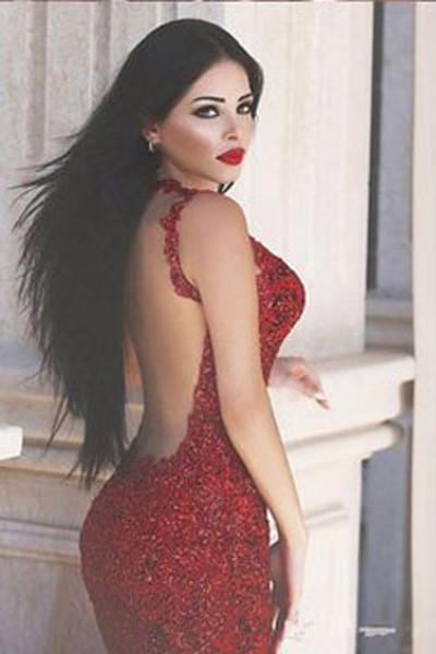 Fabulous Red Backless Mermaid Long Prom Dresses Evening Dresses, MP192 at musebridals.com
