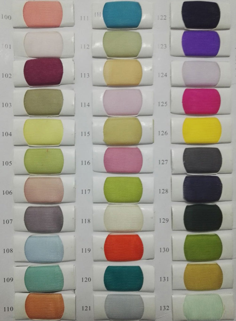 Tulle color chart 4 at musebridals