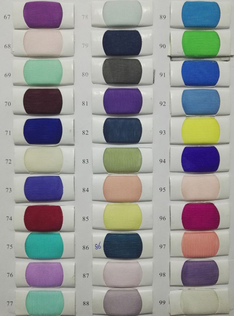 Tulle Color Chart of www.musebridals.com