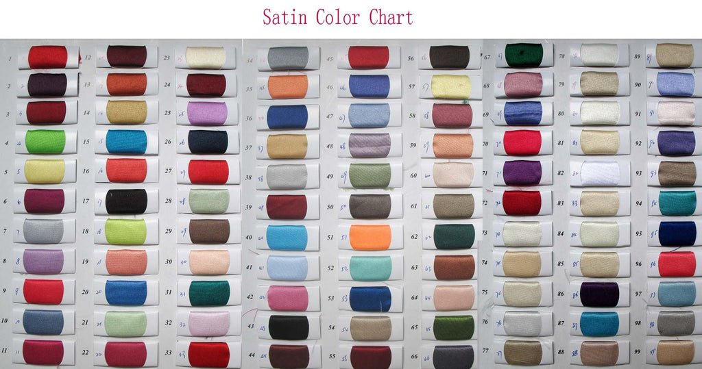 Stain color chart www.musebridals.com