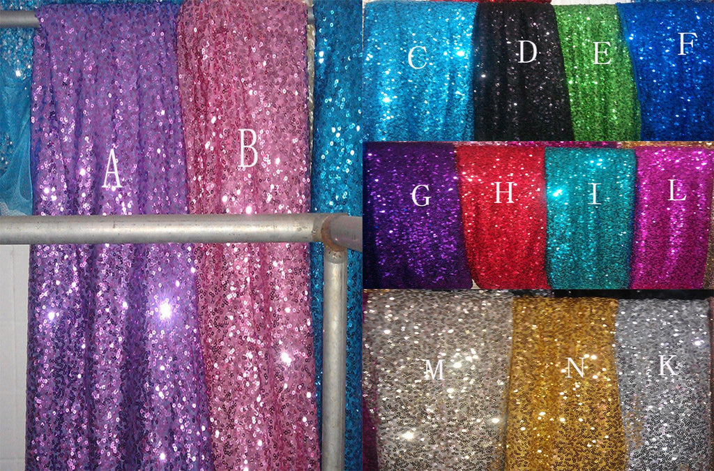 Sequins color chart