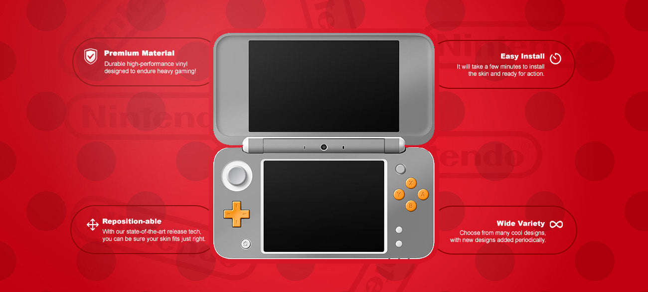 Yellow Ducky Nintendo® 2ds xl Skin Features