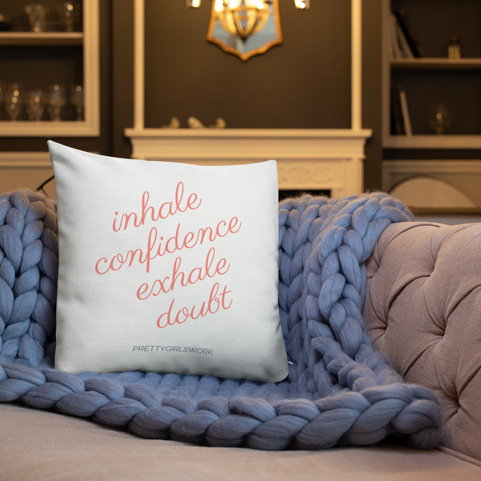 Inhale Confidence Throw Pillow