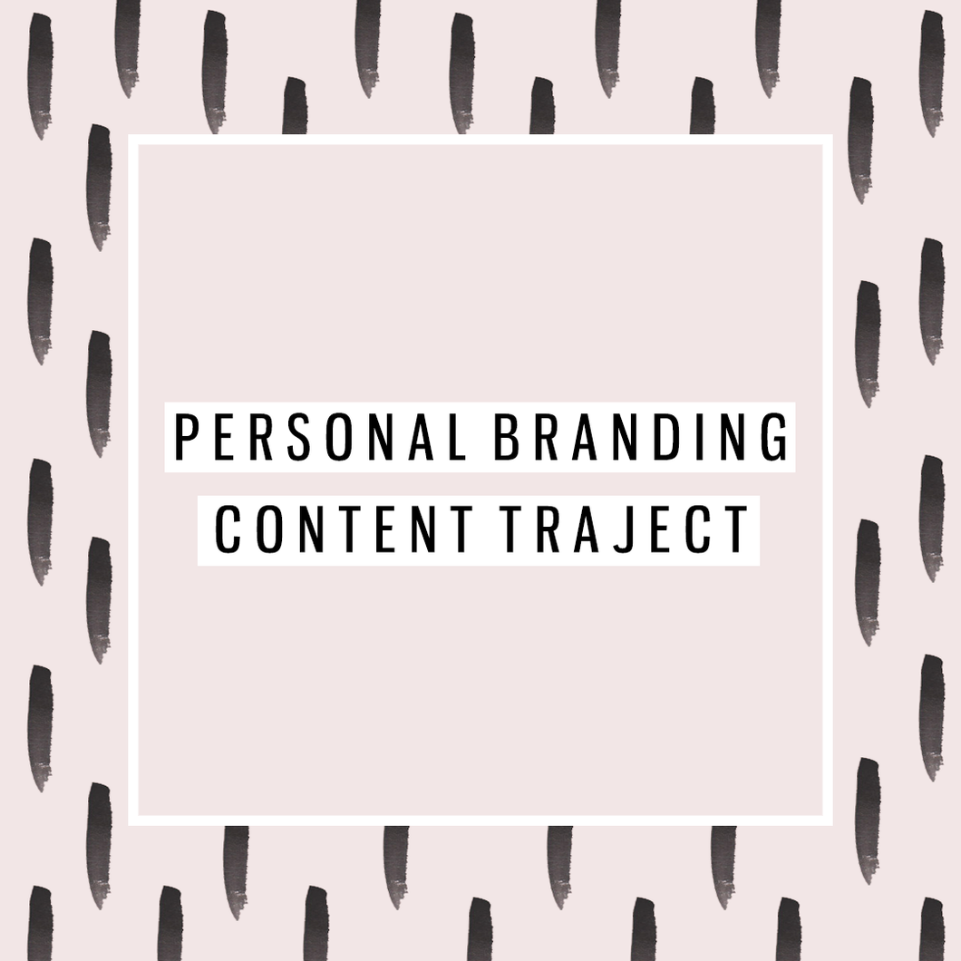 Personal Branding Content Traject