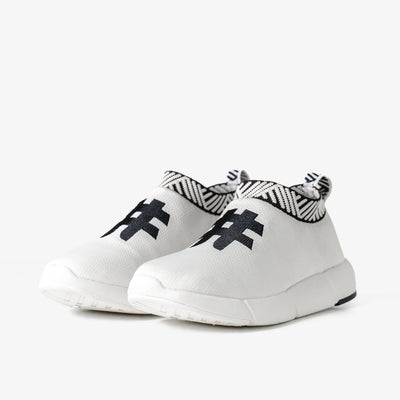Men's Coffee Sneakers - Rebel White
