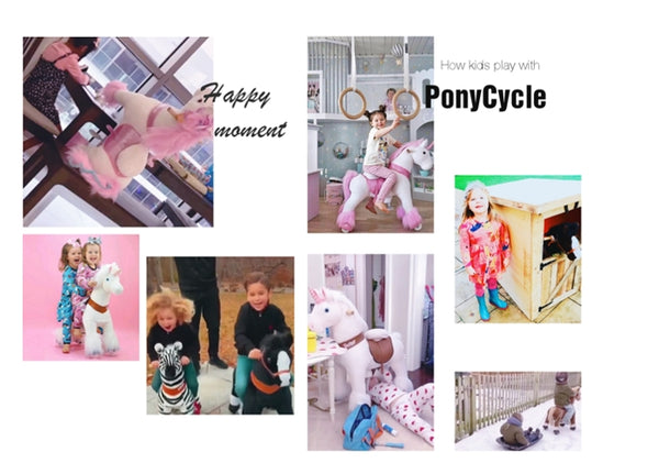 Kids play with PonyCycle Horse