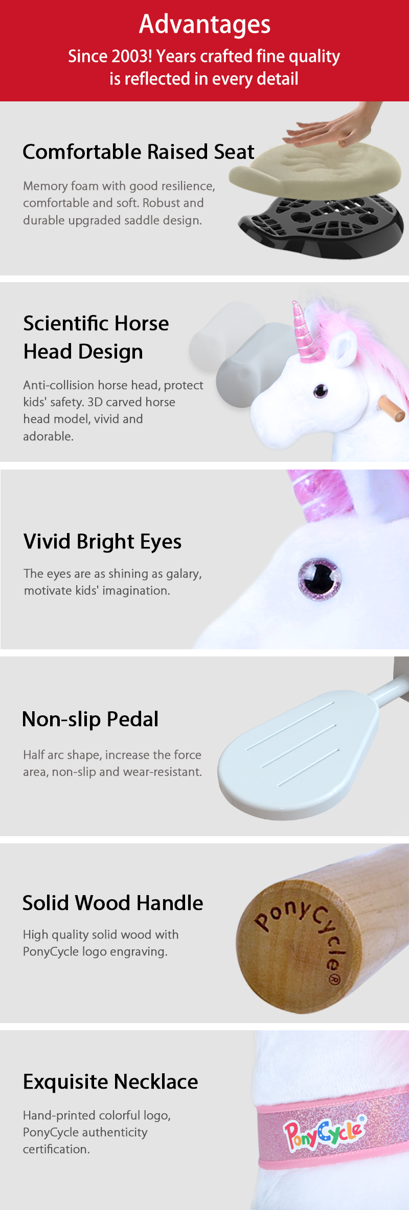 PonyCycle ride-on unicorn advantages