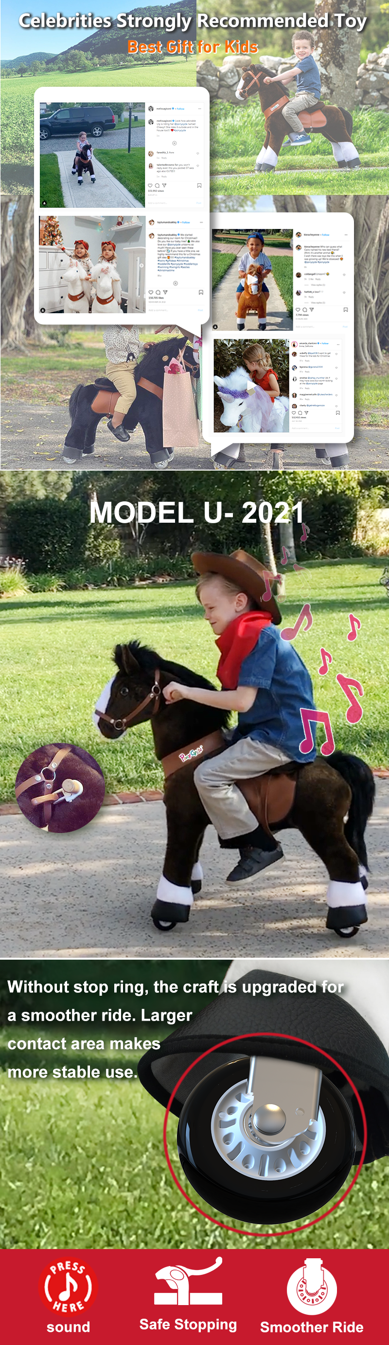 PonyCycle ride on horse toy  new function