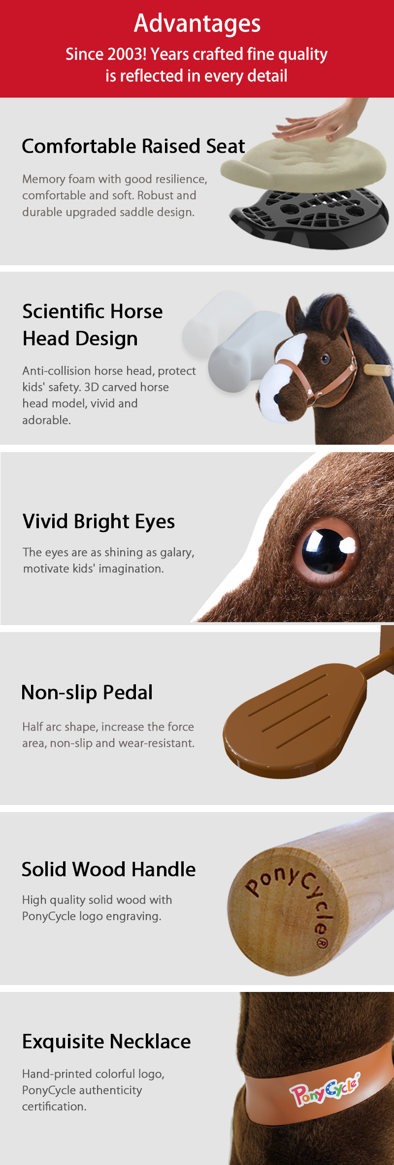 PonyCycle ride on horse toy  advantages