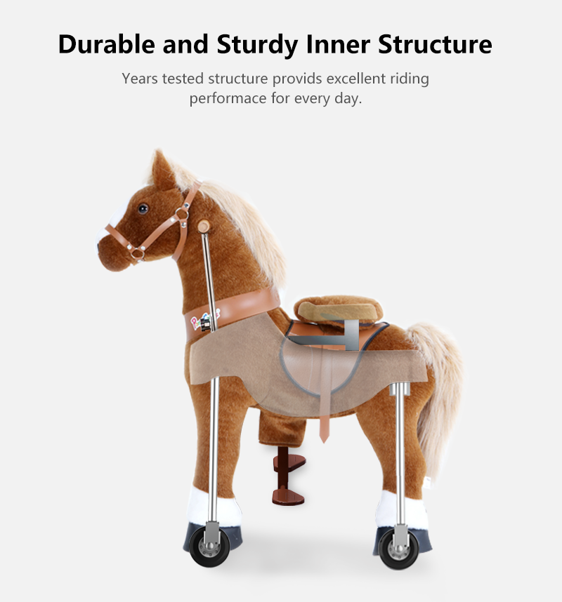 PonyCycle ride on pony toy  inner structure