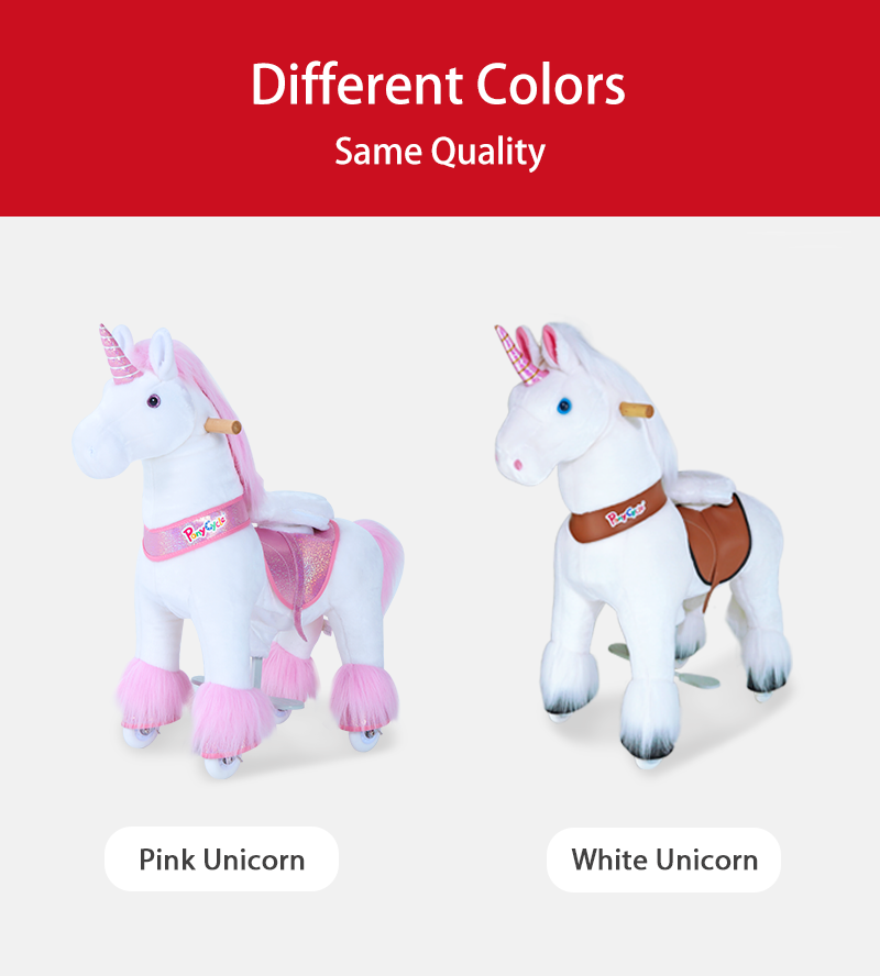 PonyCycle unicorn ride on toy colors