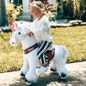 PonyCycle Model U ride on unicorn_age 3-5 white_1