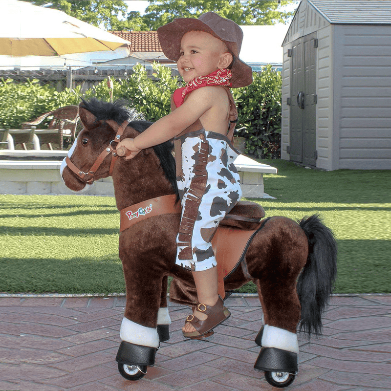 PonyCycle Model U ride on horse toy_age 3-5 chocolate_1
