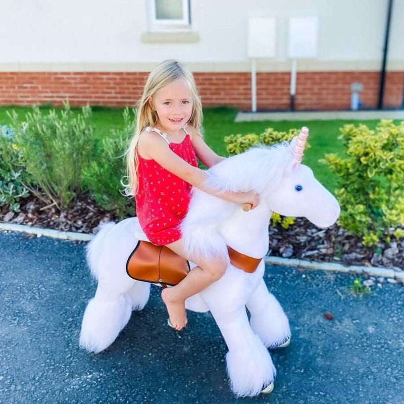 PonyCycle U White Unicorn for Age 4-9