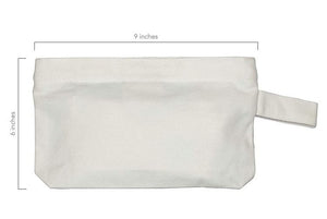 Organic Cotton Canvas Zipper Pouch