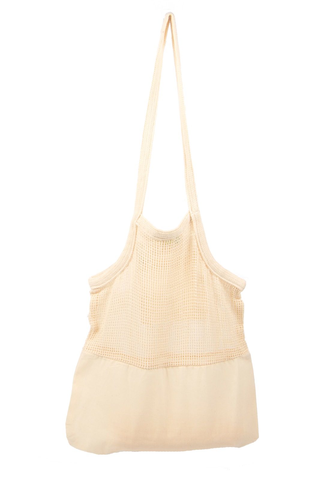 Organic Cotton Mesh & Fabric Tote Bags