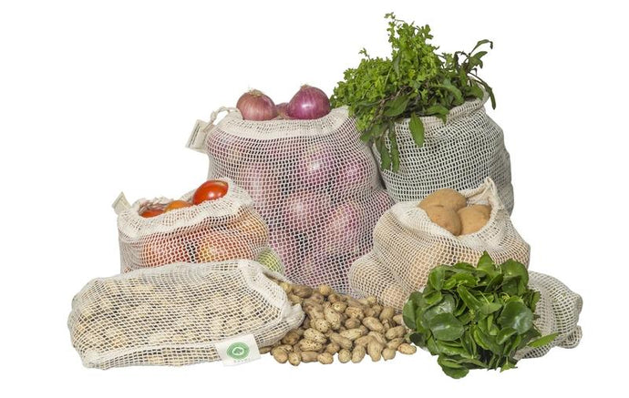 Mesh Produce Bags of Organic Cotton