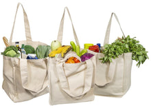 Load image into Gallery viewer, Tote Grocery Bags of 100% Organic Cotton