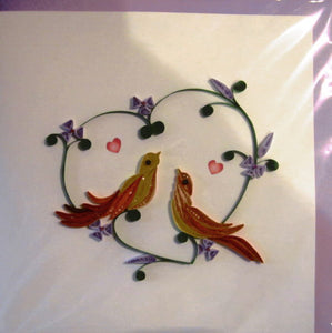 Love Birds Quill Card