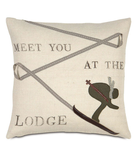 Meet You At The Lodge Pillow